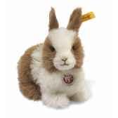 peluche steiff lapin nain donnilbrun et blanc st076527