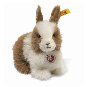 Peluche Steiff Lapin nain Donnill brun et blanc -st076527