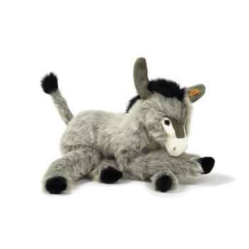 Peluche Steiff Ane Issy couché gris-101588