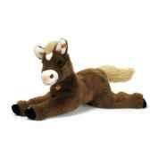 peluche steiff poney niki couche brun 101816