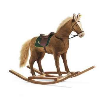Peluche Steiff Cheval à bascule mohair brun-480201