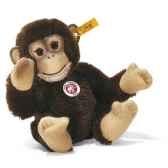peluche steiff chimpanze bongo mohair brun st030826