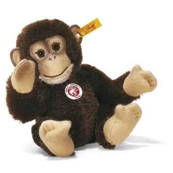 Peluche Steiff Chimpanzé Bongo mohair brun -st030826