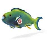 peluche steiff poisson perroquet zappy mohair st035579