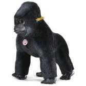 peluche steiff gorille gora mohair debout noir st062261