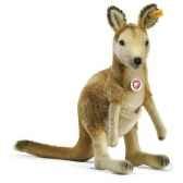 peluche steiff kangourou knuffmohair debout brun clair st062667