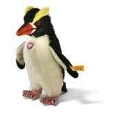 peluche steiff pingouin hippie mohair debout blanc et noir st064531