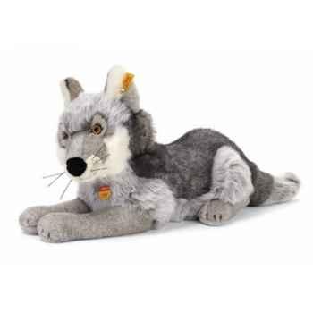 Peluche Steiff Loup couché gris -st069215