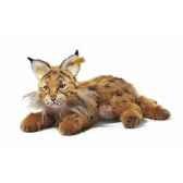 peluche steiff lynx mini mohair couche brun et roux st069611