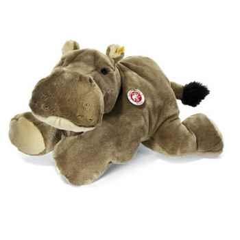 Peluche Steiff Hippopotame Mocky couché brun -st085383
