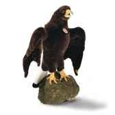 peluche steiff grand aigle studio brun fonce 505218