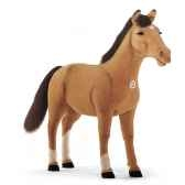 peluche steiff poney studio brun clair 523403