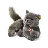 peluche steiff chat des chartreux mizzi couche gris st074219