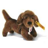 peluche steiff chien teckemohair debout brun st031373