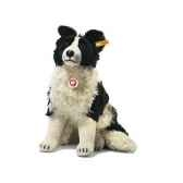 peluche steiff chien border collie hasso mohair assis st031694