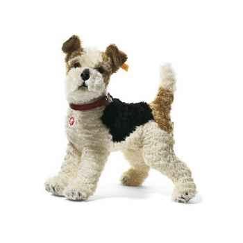 Peluche Steiff Chien Terrier Foxy mohair debout -st031717