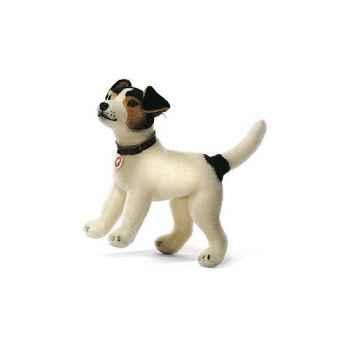 Peluche Steiff Chien Terrier Jack Russel Hexie mohair debout -st031731