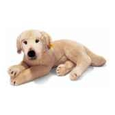 peluche steiff chien labrador couche blond st079283