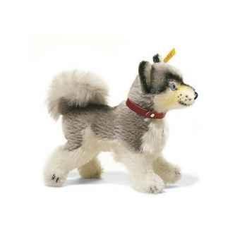 Peluche Steiff Mini-husky Whitey mohair debout gris et blanc -st079689