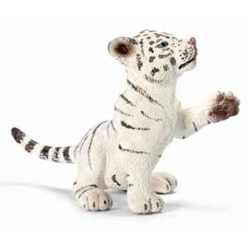 schleich-14385-Bébé Tigre blanc, jouant