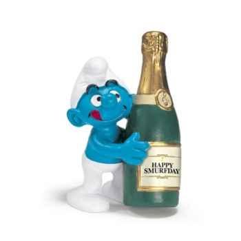 schleich-20708-Figurine Schtroumpf à bouteille