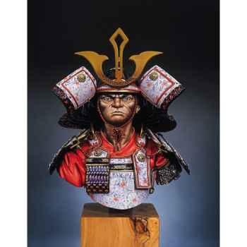 Figurine - Kit à peindre Buste  Guerrier samouraï en 1300 - S9-B03