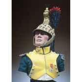 figurine kit a peindre buste chef d escadron dragons en 1810 1812 s9 b17
