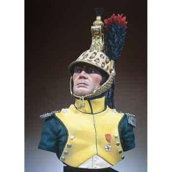 Figurine - Kit à peindre Buste  Chef d'escadron  dragons en 1810-1812 - S9-B17