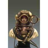 figurine kit a peindre buste plongeur de armee nord americaine en 1941 s9 b20
