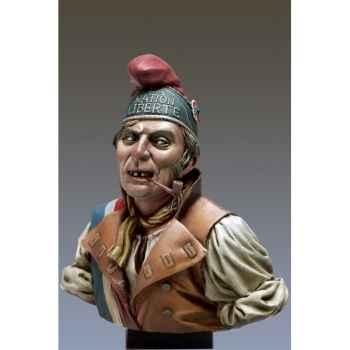 Figurine - Kit à peindre Buste  Le Sans Culotte en 1793 - S9-B23
