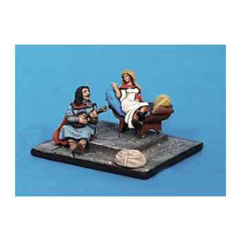 Figurine - Kit à peindre Demoiselle et troubadour - CA-014