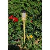 torche solaire en bambou jiawei 1822 bsz0245d