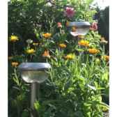 lot de 2 lanternes en inox a energie solaire pour balisage jiawei 1016