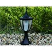 lampe de forte clarte a energie solaire moule facon fer forge noirci 4 led jiawei 1011m50