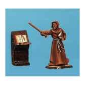 figurine kit a peindre moine et pupitre ca 023