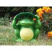 decoration de jardin lumineuse a energie solaire grenouille jiawei g040040aa