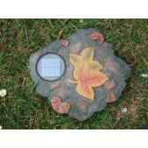 decoration de jardin lumineuse a energie solaire feuille morte jiawei g020088aa