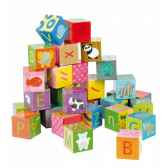 kubkid 32 cubes alphabet janod j02993