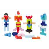 kubix 50 cubes geometrix janod j08063