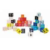 kubix 40 cubes lettres et chiffres janod j08065