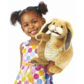 marionnette peluche lapin patchwork folkmanis 2948