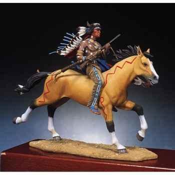 Figurine - Kit à peindre Guerrier sioux armé d'une carabine - S4-F2
