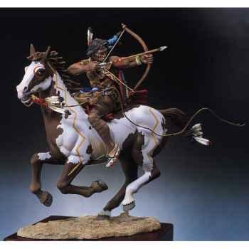 Figurine - Kit à peindre Guerrier sioux tirant à l'arc - S4-F3
