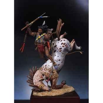 Figurine - Kit à peindre Guerrier sioux désarçonné - S4-F5