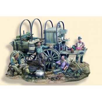 Figurine - Kit à peindre Cantine ambulante en 1880 - S4-S11