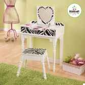 coiffeuse et tabouret fun and funky kidkraft 13025