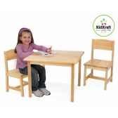 ensemble table et 2 chaises aspen naturekidkraft 21221