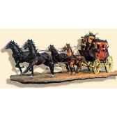 figurine kit a peindre diligence en 1880 s4 s6