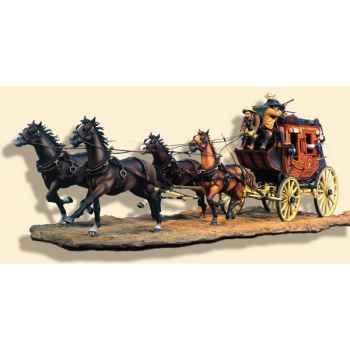 Figurine - Kit à peindre Diligence en 1880 - S4-S6
