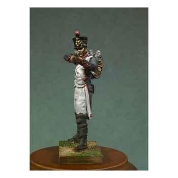 Figurine - Kit à peindre Soldat d'infanterie de ligne en 1810 en train de tirer - NA-008